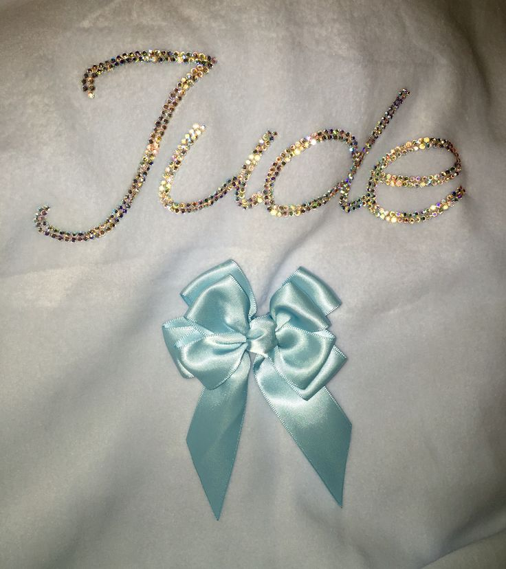 Personalised double bling personalised bling baby blanket xxx