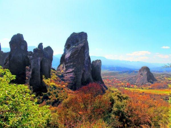 Autumn colours in Meteora
