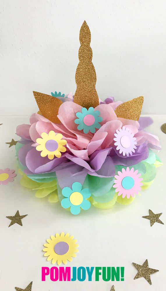 Look at this Unicorn Party Decoration! It's so beautiful and can be used as a cake topper or centerpiece! Also can be custom made! Starts at $19.50 at POMJOYFUN2.COM