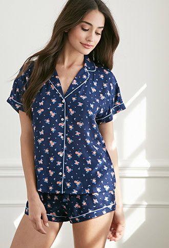 Pijama Estampado Rosas | Forever 21 - 2002247651