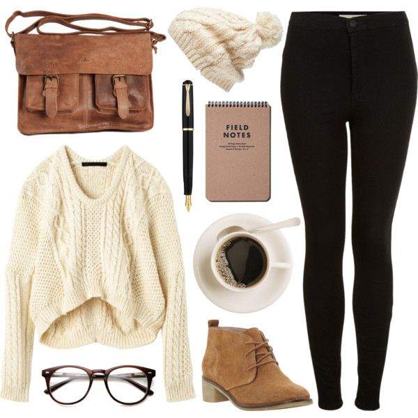 Cream knits by hanaglatison on Polyvore: Cream knits by hanaglatison on Polyvore