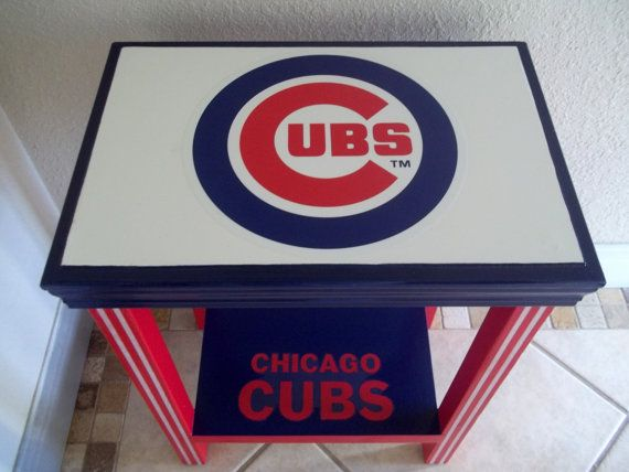 Chicago Cubs Inspired Table Baseball Furniture By DrSportsCaves