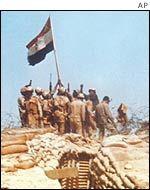 Egypt Yom Kippur War | Egyptian soldiers in the Sinai during the 1973 Yom Kippur War