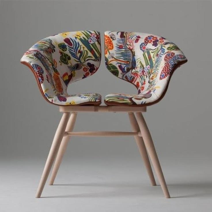 Fabric split chair