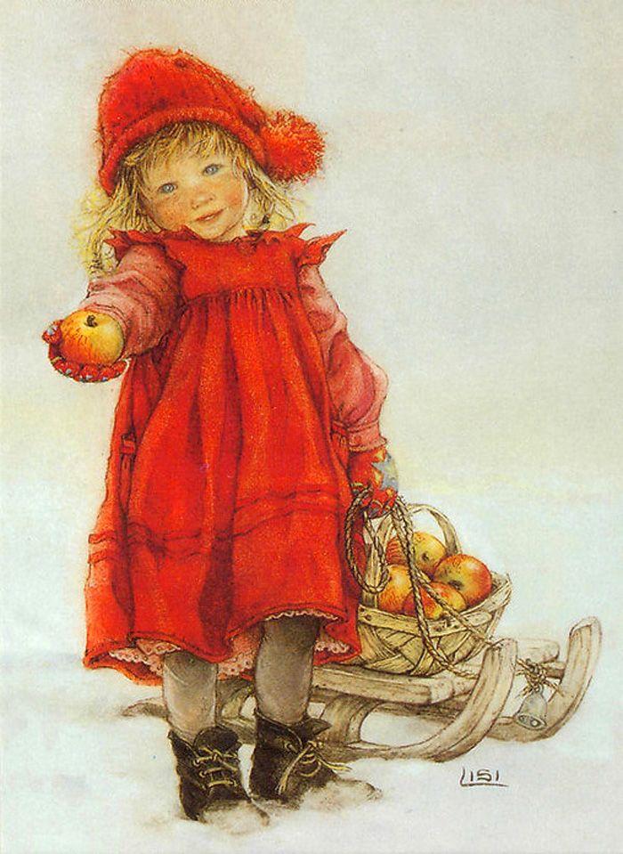 Детские зимние, лиззи мартин открытки