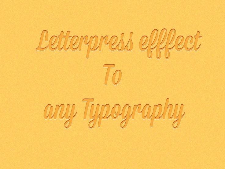 Letterpress effect