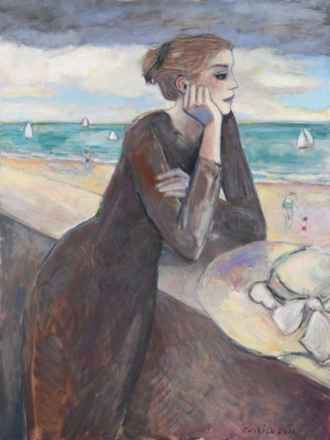 Point du Jour by Jean Pierre Cassigneul (b.1935), Paris, @ Ackerman's Fine Art, LLC, NY.
