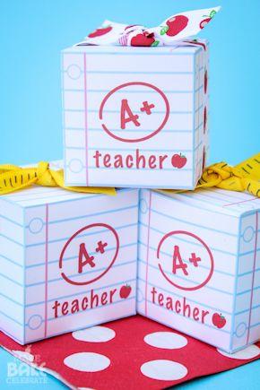 Teacher Appreciation Box -- with FREE printable download to make box :)