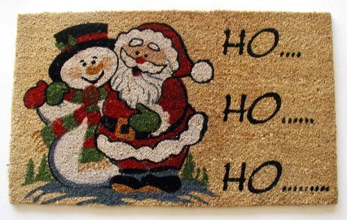 Geo Crafts G623 PVC Backed Coco Door Mat, Ho Ho Ho by Geo Crafts, Inc.. $24.99. Coir mats are exceptionally functional and virtually irreplaceable when it comes to economy, durability and beauty. Santa and Snowman greet you with a Ho Ho Ho. Santa and snowman greet you with a ho ho. To prolong life of design you should use in covered area. Rug measures 18-Inch x 30-Inch. Pvc backing helps reduce shedding of coir bristles. Founded at the turn of the century in Indi...