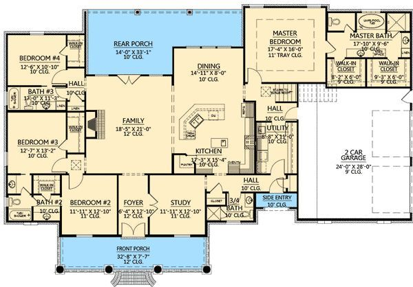 Plan W56352SM: French Country, Acadian, European, Corner Lot, Photo Gallery, Southern House Plans & Home Designs:
