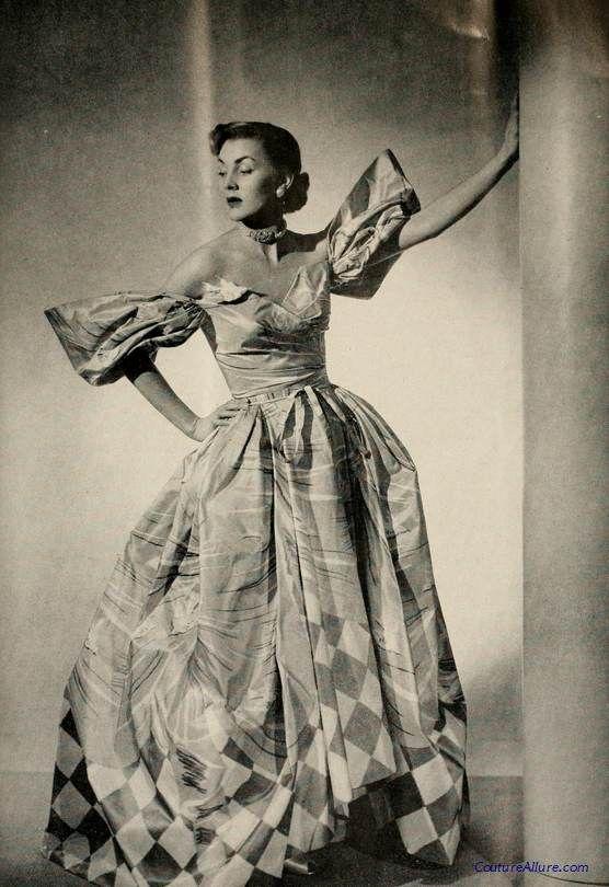 Gilbert Adrian evening gown, 1951.