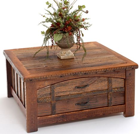 The weathered wood details on this Barnwood Coffee Table with Two Drawers from our Heritage Collection are reminiscent of criss-crossing leather straps of a well-traveled steamer trunk. This centerpiece furnishing is like a souvenir from a time when travel was elegant, destinations were far, and the pace was charmingly slow. Experience expedition and adventure without