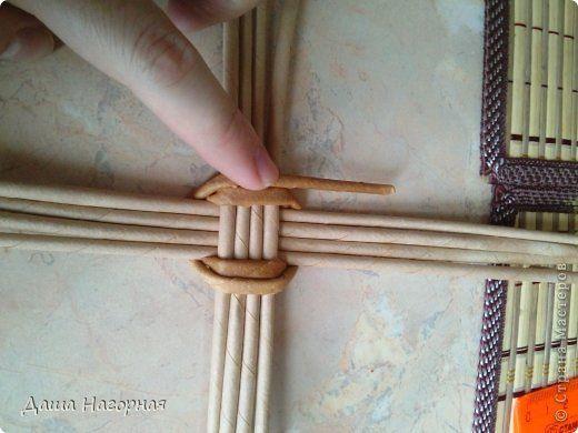 Мастер-класс Поделка изделие Плетение МК чашки Бумага газетная Трубочки бумажные фото 5