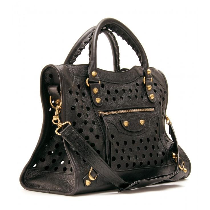 Balenciaga classic city arena polka dots bag