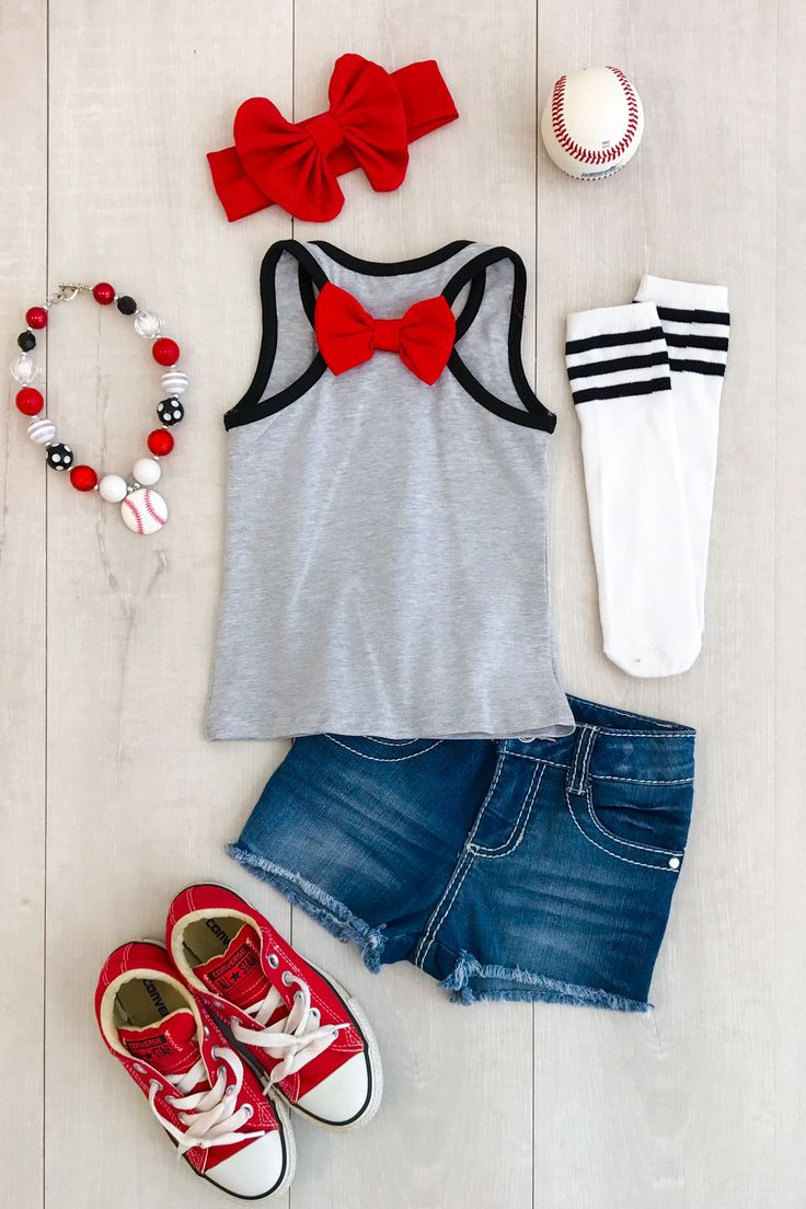 "Gray ""Baseball Sister"" Tank Top"