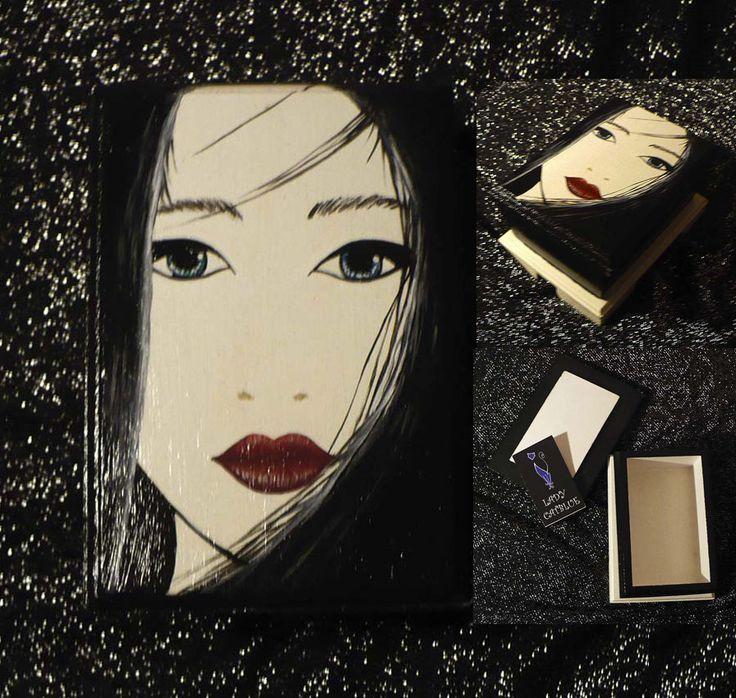 Caja rostro de una Geisha 8x12 cm.