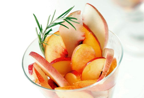 Peaches and Nectarines with Rosemary and Honey Syrup | Recipe | Syrup ...
