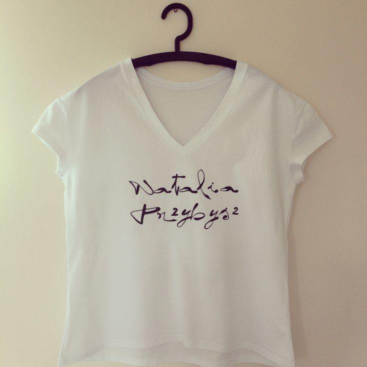 """""""Natalia Przybysz"""" koszulka ręcznie malowana"""