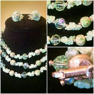 I just discovered this while shopping on Poshmark: Fabulous vintage triple strand choker set. Check it out! Price: $120 Size: OS, listed by caroline904