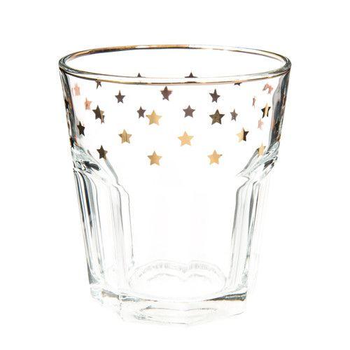 Gobelet en verre ÉTOILE DORÉE