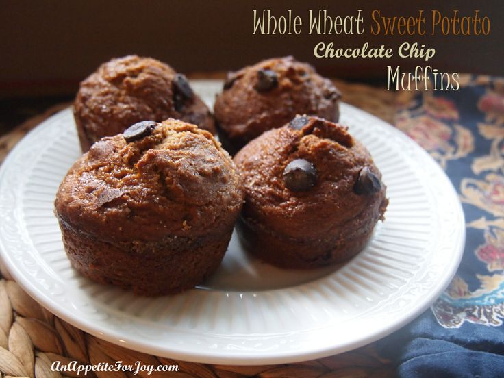 Whole Wheat Sweet Potato Chocolate Chip Muffins | Breaking your fast ...