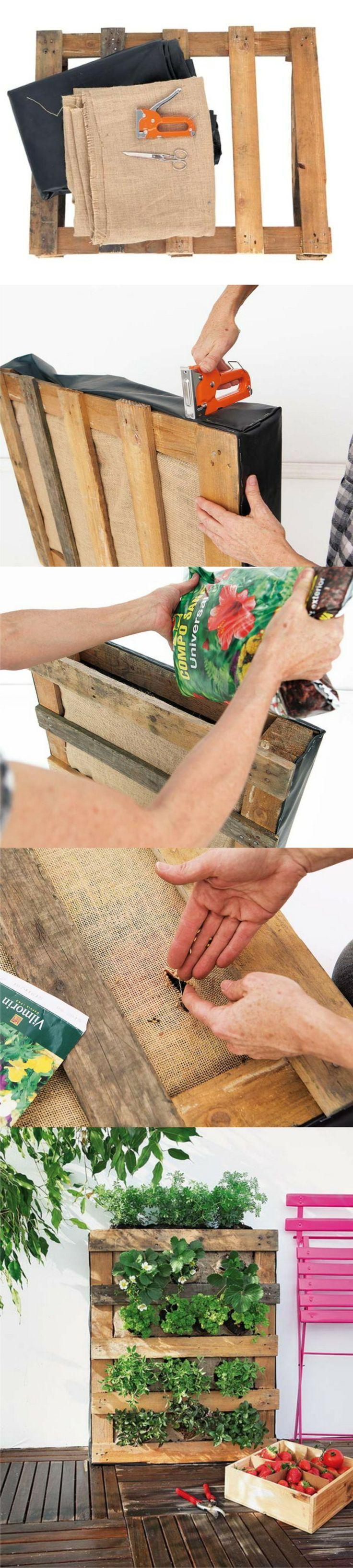 DIY hacer un huerto vertical con palé