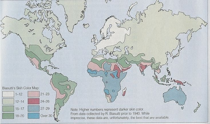 """""White,"" of course, is a a social designation. The question really is, ""Why are northern Europeans depigmented?"" Here is a map of human skin tone. The natives of northern Europe are oddly light-skinned. They are paler than anyone else on earth."" Interesting investigation into the light-skinned/blue-eyed origins of the Baltic region"