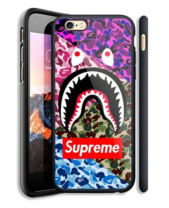 new arrival 27f8d ab2ed Details about Bape A Bathing Ape Shark Mouth Camo Hard Case Cover ...