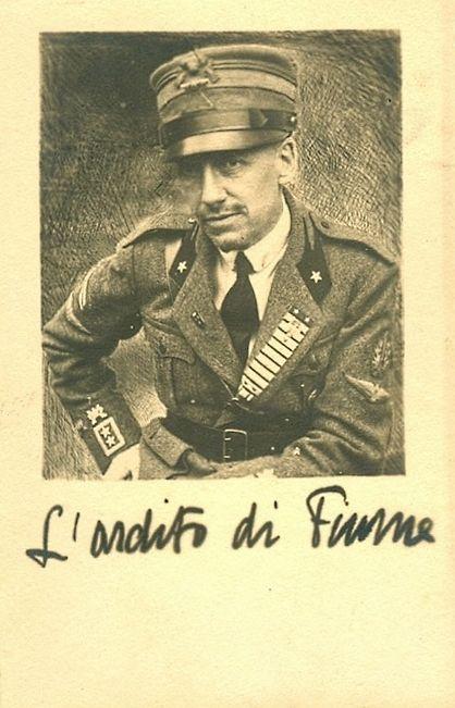 Rijeka - 1919. - Gabriele d Annunzio - portret ardita