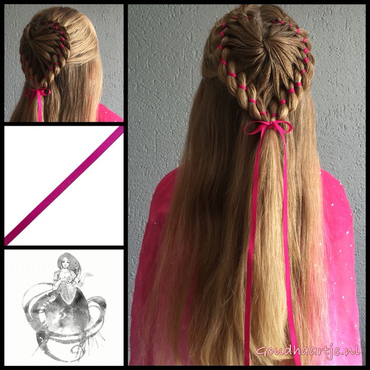 Halfup heartshaped starburst braid with pink ribbon from the webshop www.goudhaartje.nl (worldwide shipping). This hairstyle is inspired by @studiohilde (instagram)    #hair #hairstyle #hairinspiration #hairideas #braid #braids #plait #trenza #vlecht #ribbon #heart #longhair #beautifulhair #gorgeoushair #starburstbraid #hairstyles #hairaccessories #haaraccessoires #goudhaartje #hairinspo #braidinspo  #hairstylesforgirls