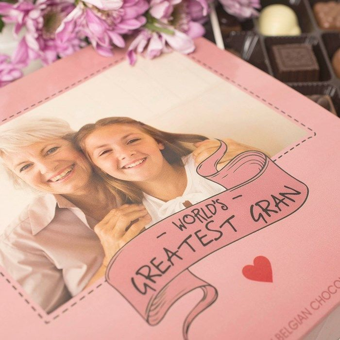 of Belgian chocolates can be personalised with a favourite photograph ...: pinterest.com/pin/193021534007998997