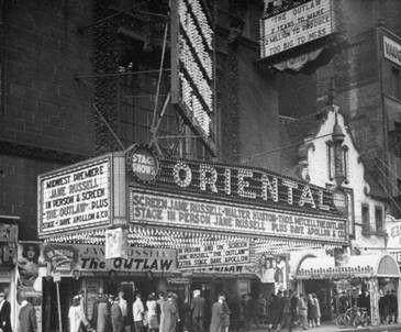 oriental theatre chicago history | original c. 1926 downtown chicago oriental theater ornamental cast ...