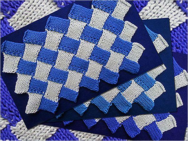Tutorial Zigzag Knitting : Zig zag entrelac stitch step by tutorials