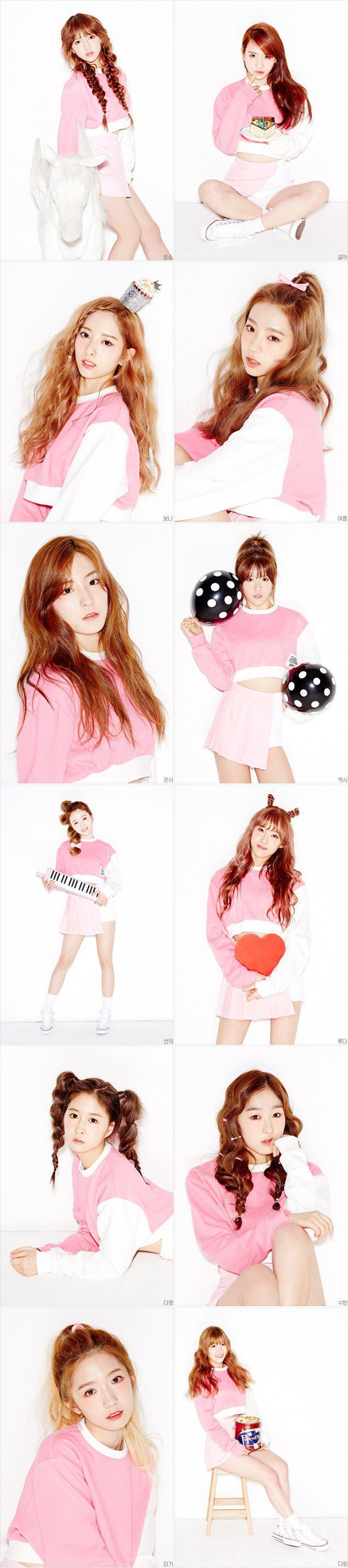 Cosmic Girls are lovely in pink with new individual concept photos! | allkpop.com