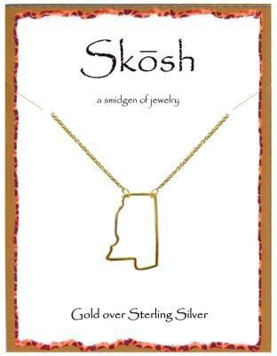 Engravables - Gold Mississippi Necklace by Skosh, $36.99 (http://www ...