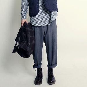 Korea men's fashion mall, Hong Chul style [NOHONGCUL.COM GLOBAL] Wide through dew-Rex Pants / Size : M,L / Price : 62.13 USD #mensfashion #koreafashion #man #KPOP #NOHONGCUL_GLOBAL #OOTD #pants #widepants #dailylook