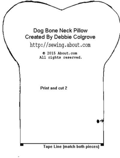 Dogs Neck Pillow And Pillow Patterns Neck Pillow Pattern