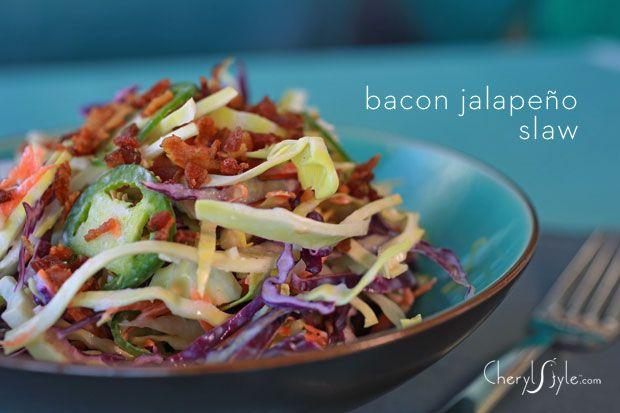 #bacon jalapeño spicy #coleslaw on www.CherylStyle.com