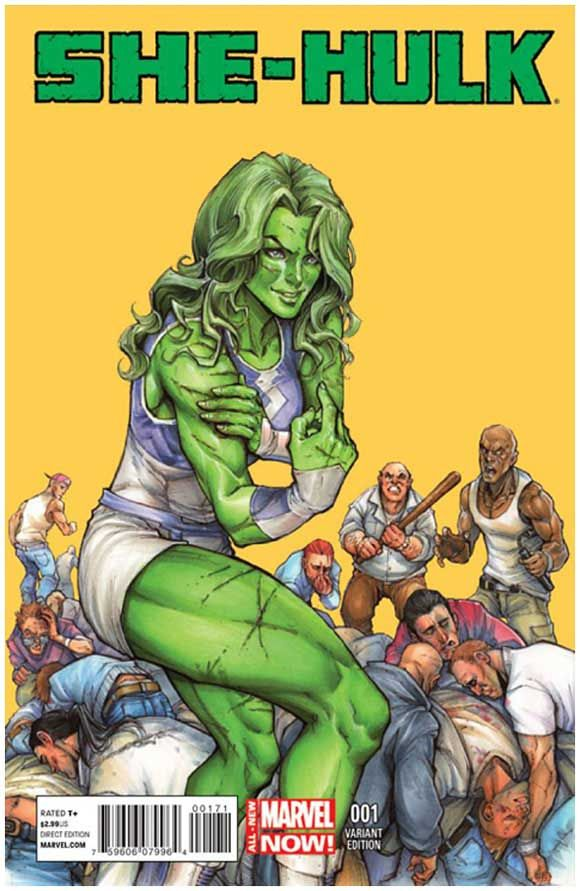 She-Hulk #1 1:100 cover variant by Siya Oyum. Click the pic and find out more...