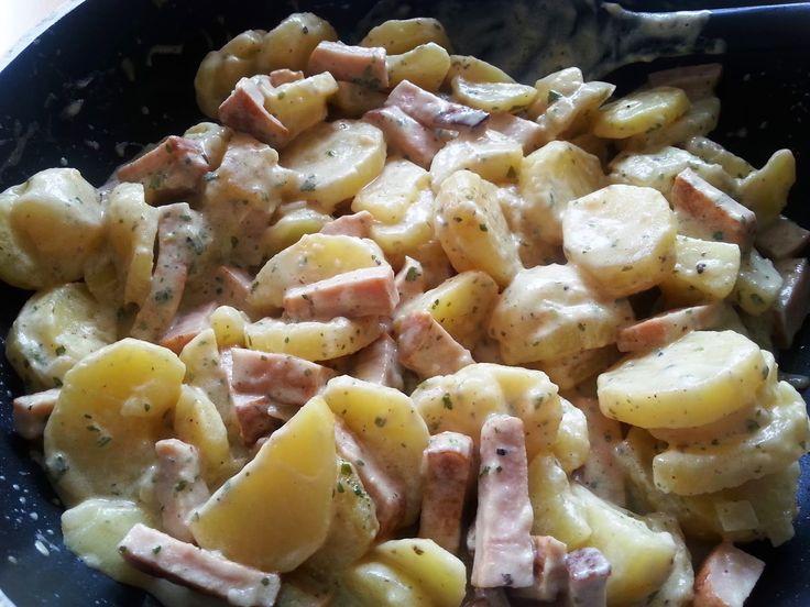 Sanna´s Hexenküche: Kartoffel-Leberkäse-Pfanne