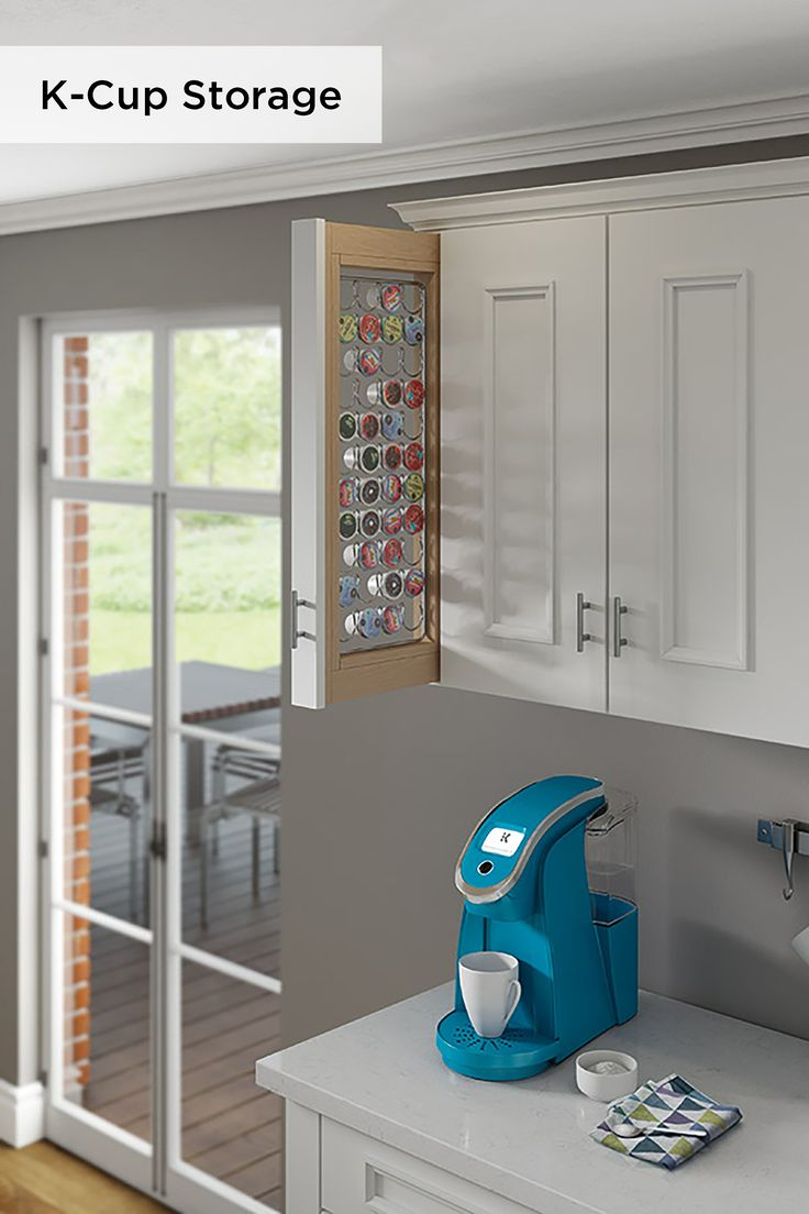 Last month at the 2017 Kitchen and Bath Industry Show in Orlando, Fla., Kitchen & Bath Design News caught a glimpse of Decora Cabinets' K-Cup Pullout Storage Cabinet. With the capacity to hold 44 pods and convenient gliding capabilities, this smart organizational solution can fit in even the smallest areas of your kitchen.