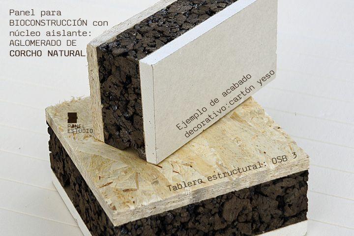 Panel sandwich de madera para cubierta y tejados con núcleo aislante para #bioconstrucción: OSB 3 y aglomerado de #corcho. http://www.panelestudio.com/panel-para-bioconstruccion/