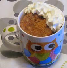 Mug cake de zanahoria y nueces