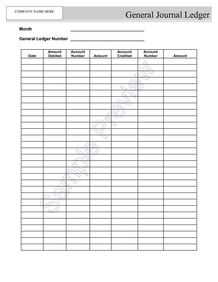 blank self employment ledger sheets