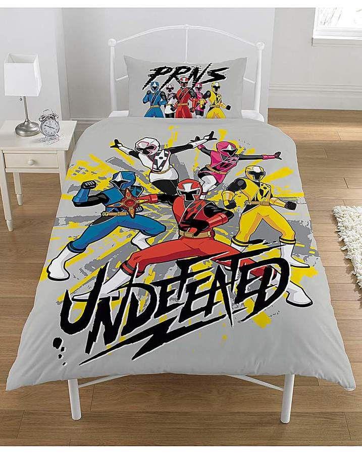 Power Rangers Ninja Steel Panel Duvet Afflink Duvet Bedding