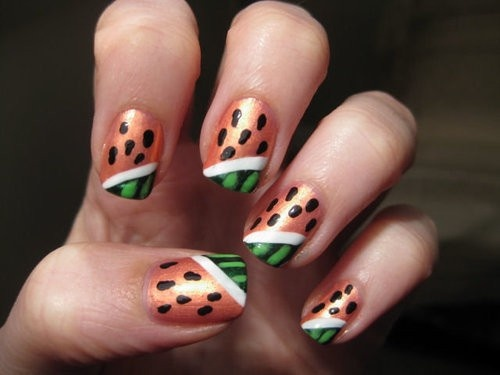 Watermellon Nails - heck ya