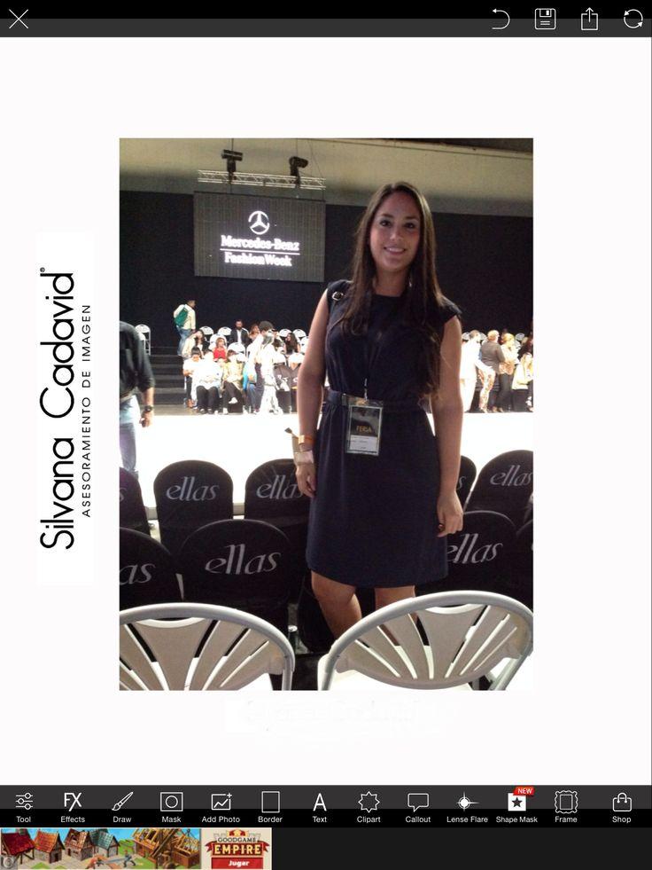 Durante el Mercedes Benz Fashion Week Panamá.