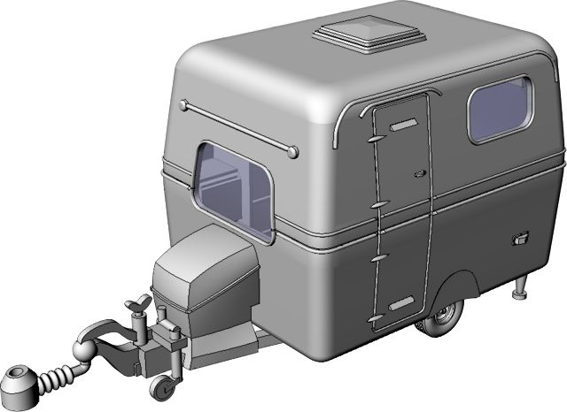 Saabo caravan by Griffin Models