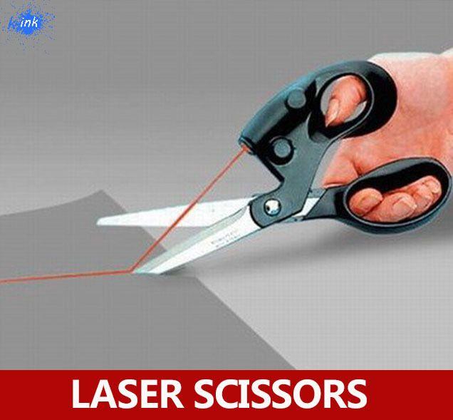 Scrapbooking costura tijeras guiadas por láser para el corte de papel, láser fácil Tijera para cortar una línea recta