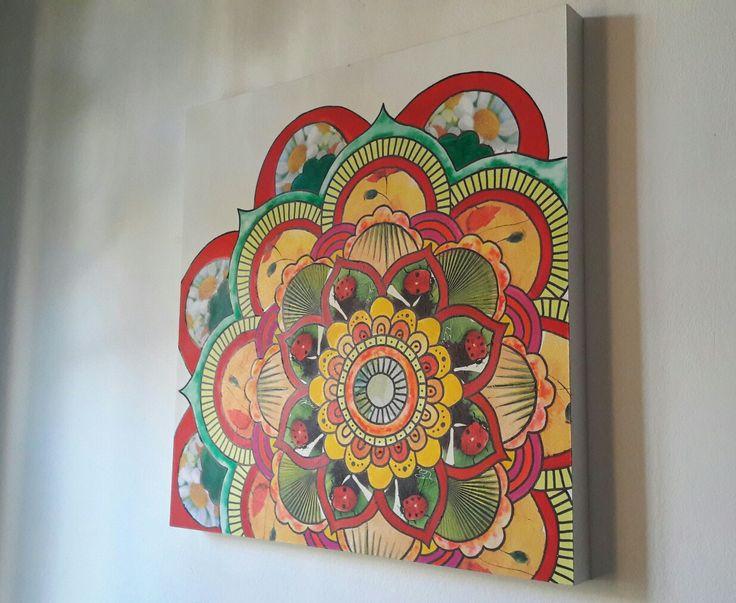 Mandala en decoupage